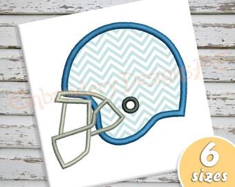 Football Helmet Applique Design - 6 sizes - Machine Embroidery Design File