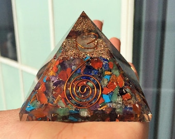 Orgone Pyramid / Chakra Healing Orgone Pyramid Charged w/ Reiki Perfect for Chakra Healing, Meditation, Wicca, Yoga