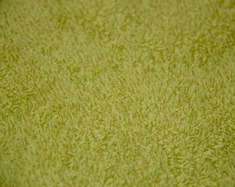 400G 100% COTTON LIME GREEN TERRY CLOTH