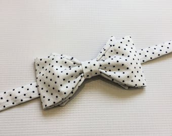 Navy Bow Tie, Navy Patterned Bow Tie, Mens Bow Ties, Mix and Match Bow Ties, Navy Bow Ties, Groomsmen Bow Ties, Wedding Ties, polka dot bow
