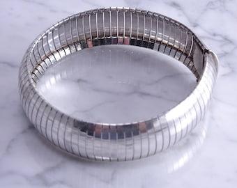 """Large Sterling Silver Bracelet (8"""")(k)"""