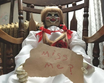"""Annabelle Doll,  """"Replica Props Life Size 1:1"""" (Only on pre-order)"""