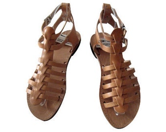 Gladiator sandals ! Greek Sandals! Womens sandals! Sandales cuir - Sandales grecques
