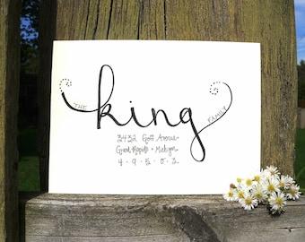 Handwritten envelope addressing