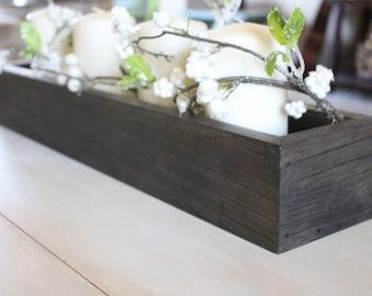 Rustic Centerpiece Box, Planter, Modern Farmhouse Decor, Spring, Fixer Upper, Table Centerpiece