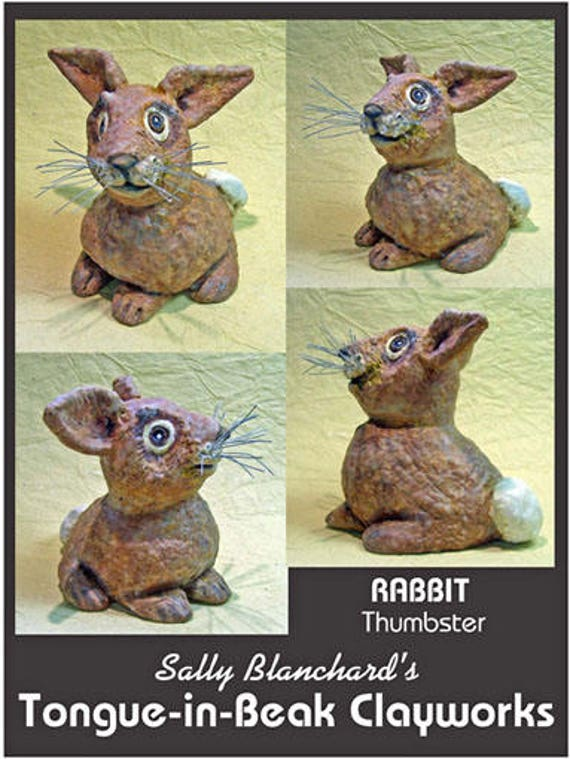 Silly Rabbit Thumbster Sally Blanchard's One-of-a-Kind Tongue-in-Beak Clayworks