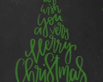 we wish you a merry christmas printable