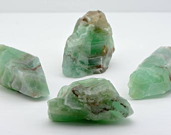 Green Calcite Gemstone Cluster - The Stone of Plenty