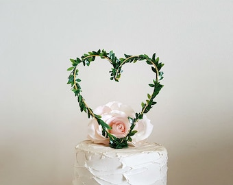 Custom HEART Wedding Cake Topper, Custom Wedding Cake Decoration, Vintage Wedding Cake Decoration, Wine Wedding Cake Topper, Rustic Wedding