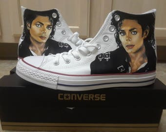 The King of Pop!!!! Michael Jackson Handpainted Converses for Robert
