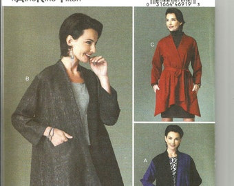Butterick 6422 new uncut size 6 - 14 womans loose fitting jacket