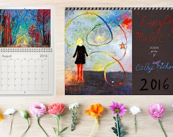 RESERVED for NANCY 2016 Cathy Nichols Wall Calendar