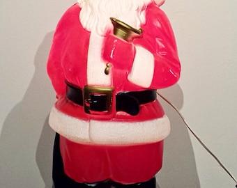 1969 Empire Plastic Co. Blow Mold Light Santa Claus
