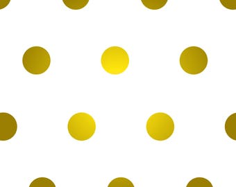 Satin Gold Polka Dot Vinyl Wall Decals