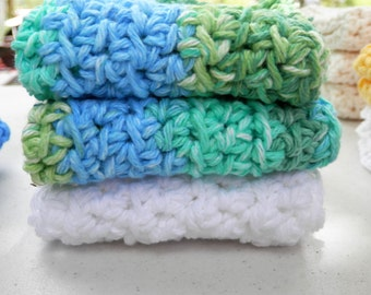 Dishcloth Set/ Cleaning Cloths Ready to Ship, Color choices available