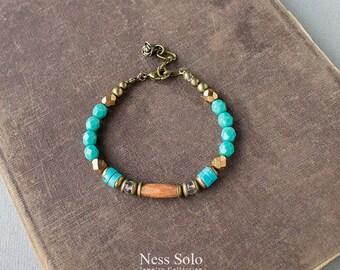 Boho jewelry Handmade boho bracelet Bohemian bracelet Turquoise bead bracelet Boho beaded bracelet Boho chic Festival jewelry Gypsy jewelry