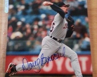 Detroit Tiger Doug Brocall Autograph 8X10 Photo