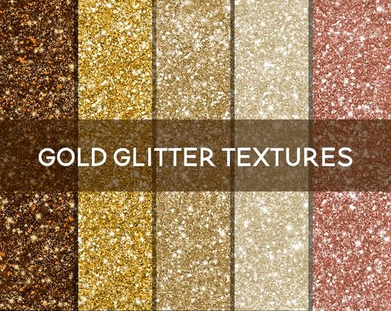 Gold digital glitter planner paper seamless glitter texture rose gold glitter gold glitter clipart glitter background