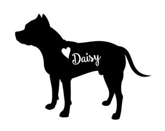Pitbull decal // Personalized pitbull decal // pitbull car decal // dog decal // personalized pitbull