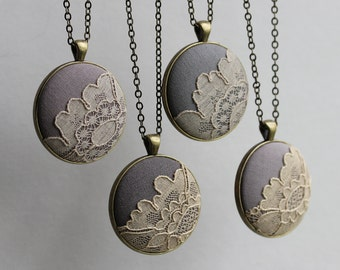 Set of 4 Bridesmaid Necklaces, Unique Rustic Boho Wedding Gifts