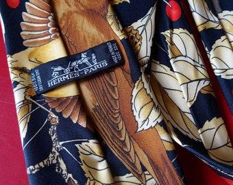 HERMES, beautiful tie silk, cherries patterns