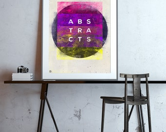 ABSTRACTS - Eroded grunge abstract art poster