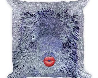 Designer Decorative Throw Pillow by Gogimogi - Square - Porcupine Throw Pillow - Home Decor - Pop Art Pillow