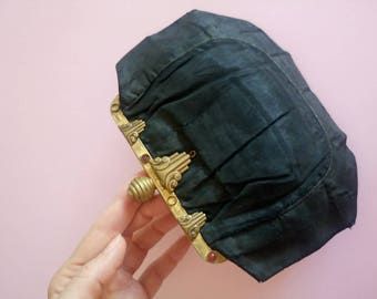 Vintage 1920s French Art Deco purse antique clutch bag