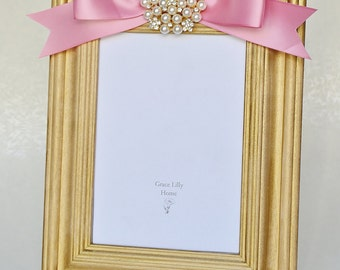 Baby Picture Frame Gift Newborn Girl Nursery-CHOOSE your Size 4x6, 5x7, 8x10