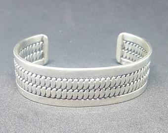 Silver Twist Wire Cuff Bracelet