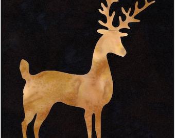 Deer Reindeer Applique Pattern Design (easy)