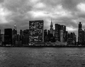 NYC Skyline Black and White