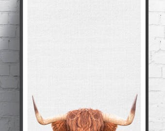 Animal prints, Highland Cow wall art, Animal art ,Farmhouse decor, Animal wall art, Animal decor, Animals art, Baby animals, Kids art