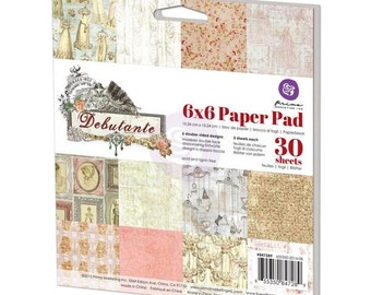 Prima Debutante Collection 6 x 6 Scrapbook Paper Pad Prima New Release In Stock Ready To Ship