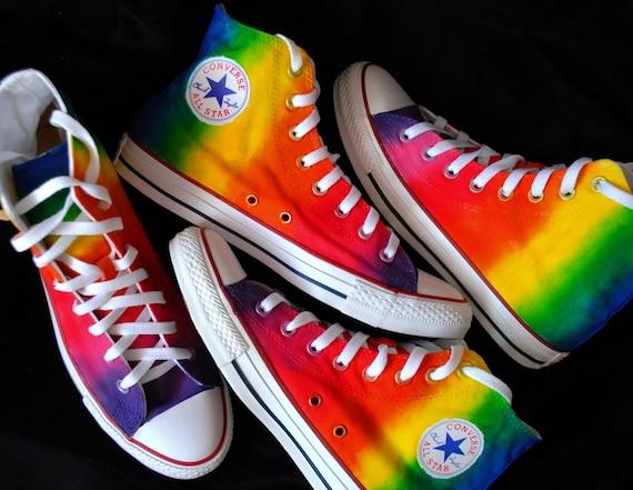 vans schuhe regenbogen