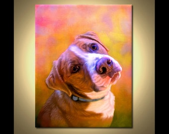 Custom Dog Painting by Iain McDonald - Dog Art from your photos