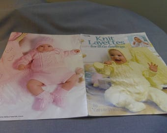 Knitting Patterns, Baby Layettes, 4 Designs Leisure Arts by Carole Prior, 2000