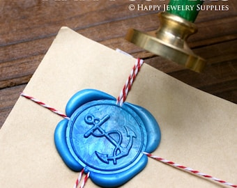 Buy 1 Get 1 Free - 1pcs Anchors Gold Plated Wax Seal Stamp (WS012)