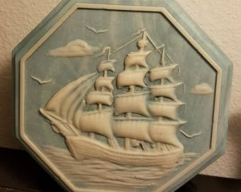 Incolay Blue Nautical Music/Jewelry Box