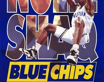 Blue Chips  Original 1994 Movie Poster One-Sheet - Nick Nolte -  Shaquille O'Neal