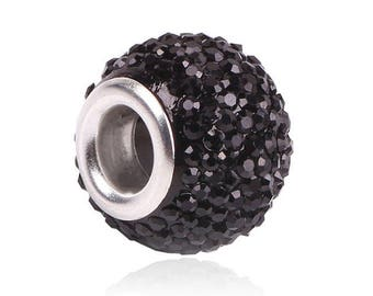 2 round beads, pandora, European charms, 12 * 9 * 5 mm