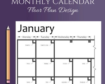 Printable Planner Calendar - Happy Planner Classic Size - Architecture, Drafting, Floor Plan