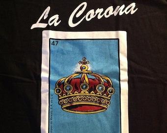 Mexican Loteria  La Corona The Crown shirt Lottery