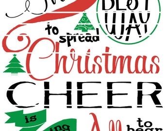 Elf the Movie - Quote: The Best way to spread Christmas Cheer is to sing it loud Buddy the Elf as Christmas SVG or Studio cut files