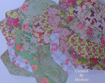 Shabby Chic Rose Garden Gift Card Envelopes (Set of 4)