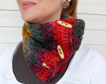 Ombré Cowl Scarf in Ginger
