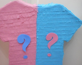 Onesi Question Mark Pink Blue Baby Shower Pull String Pinata