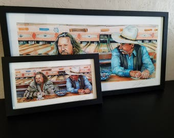 "The Big Lebowski - Sometimes You Eat the Bar 5""x11"" Poster Print"