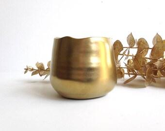 Gold bud vase, minimalist vase, small bud vase, gold vase, modern bud vase, single flower vase, small planter, gold planter