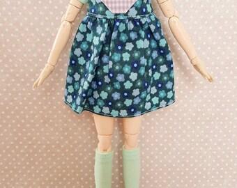 ElDollRado - spring overall dress for Pullip, Dal, Blythe etc. (+ t-shirt and knee socks)